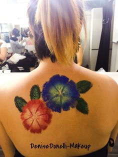Body painting, flowers