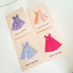 Cartão/Convite para as meninas! Esse foi feito para uma turma especial.
