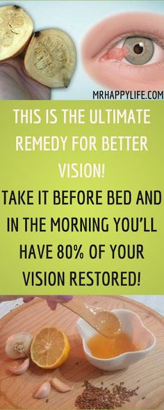 THIS IS THE ULTIMATE REMEDY FOR BETTER VISION! TAKE IT BEFORE SLEEPING AND IN THE MORNING YOU'LL HAVE 80% OF YOUR VISION RESTORED! TRY THIS RECIPE BEFORE THE PHARMACISTS ERASE IT FROM THE INTERNET!