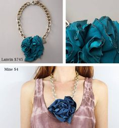 Gina Michele: diy lanvin collier fleur brule necklace