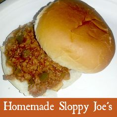 sloppy joes without the mystery can of sauce!
