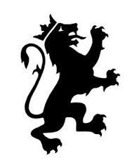 Rampant lion, simple, right facing