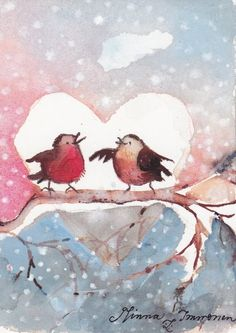 CHRISTMAS WATERCOLOR by Minna Immonen. Comments: LiveInternet - Russian Service Online Diary #