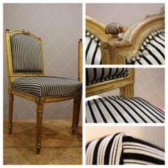 Chaises Empire et Tissu Sanaa Canovas (Atelier MD2 - Tapissier décorateur)