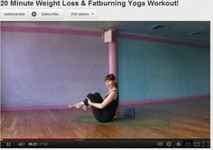 20 min fat burning & weight loss yoga workout! I love this workout!