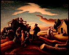 Thomas Hart Benton - The Departure of the Joads -1940
