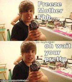 Haha Justin Bieber #funny