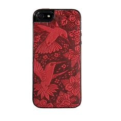 Dress up your phone in leather! With a springtime flourish of hummingbirds and blossoms...