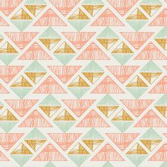 """April Rhodes - Arizona - Crystal Arrowheads in Desert Crystal. Ok, I really love the whole collection, which is a departure for me in that I'm not usually a """"southwestern"""" kind of gal, but everything I've seen in these prints is really pretty. I think I like my evolving style:). 2 yds of this and 2 of the mint triangles and I could do another knock-off Shabby Apple dress."""