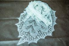 Shawl. Knit shawl. Lace shawl. Lace knit shawl. Lace knitted shawl. Ecru. by Dziergolina on Etsy