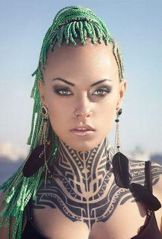 Tattoo Model Teya Salat See More : luxurystyle.biz/... Read More : http://bronzelife.info/beautiful-faces-19/