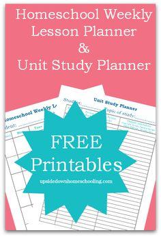 Free printable Homeschool Weekly Lesson Planner & Unit Study Planner - Money Saving Mom®
