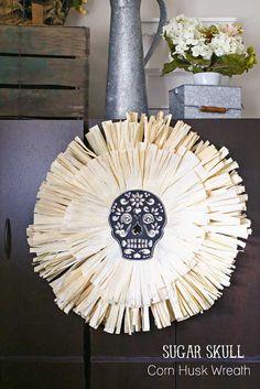 Sugar Skull Corn Hus