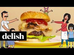 "Delish Makes Bob's Burgers: Episode 5 ""I've Created A Muenster"" Burger | Delish - YouTube"