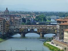 View of Ponte Vecchio from San Niccolò tower, Florence, Italy