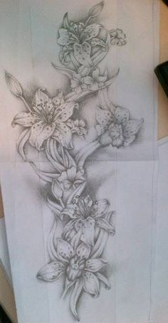 tattoo drawings of flowers for sleeves - Google Search