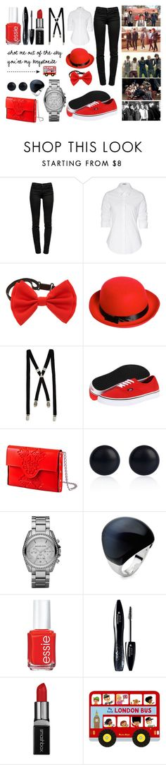 """""""Behind the scenes of the 'One Thing' video"""" by tonioverthetop ❤ liked on Polyvore featuring J Brand, Steffen Schraut, Boohoo, River Island, Vans, MeDusa, Michael Kors, Folli Follie, Essie and Lancôme"""