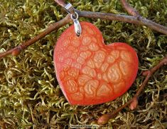 Red heart pendant Small girlfriend gift by CreationsOfTrueFairy