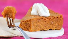 Healthy Pumpkin Pie- with no crust!