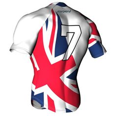 UK Rugby theme shirt from Scorpion Sports. Sublimated rugby shirt with a UK flat pattern design.