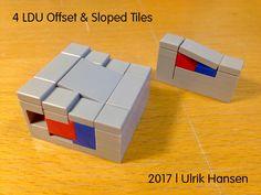 LEGO 4 LDU Offset & Sloped Tiles