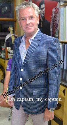 White lining blue color three button prince sport linen jacket. Dry clean only.