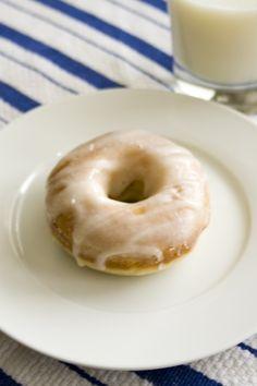 Glazed Sour Cream Doughnuts- good stuff
