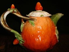 Fine Porcelain Strawberry Teapot | Collectors Weekly
