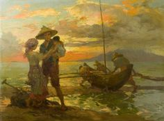"""Fernando Amorsolo y Cueto, Filipino painter, was an important influence on contemporary Filipino art and artists, even beyond the so-called """"Amorsolo school"""". Subjects: Philippine Genre, historical and society Portraits. Filipino Art, Filipino Culture, Filipino House, Filipino Food, Manila, Philippine Art, Beautiful Sunrise, Artists Like, Local Artists"""