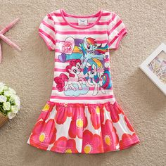 NEAT 2016  cotton baby girl clothes my little pony Fashion embroidery  dress tutu cartoon children dresses Lovely clothes Q9116# #>=#>=#>=#>=#> Click on the pin to check out discount price, color, size, shipping, etc. Save and like it!