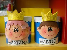Dulceros para el día del niño Tin Can Crafts, Foam Crafts, Easy Crafts, Paper Crafts, Projects For Kids, Crafts For Kids, Montessori, Ideas Para Fiestas, Child Day