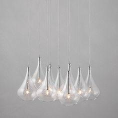 Buy John Lewis Jensen Dangle Cluster Ceiling Lights, x9 Lights Online at johnlewis.com