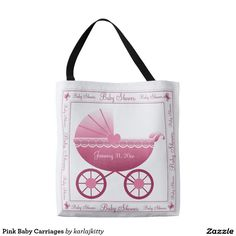 Pink Baby Carriages Tote Bag