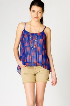 Pleated High Low Tank