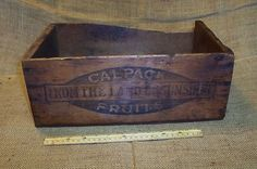 Old Wooden Calpack Prune Shipping Crate Box Primitive Antique Farm Fruit Tool | eBay