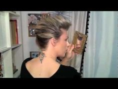 This is my next style I'm going to concur... Thanksgiving maybe?  Hair Tutorial: High French Twist Faux Hawk
