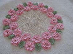 Brand new crochet doily, holiday table topper