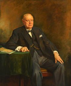 BBC - Your Paintings - Sir Winston Churchill (1874–1965)...his determined mindset & continued words of hope gave many hope in a time of war & despair.