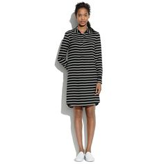 Silk Striped Tunic Dress