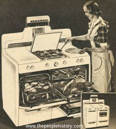 This is the one… but I still don't know what make it is / 1950 Twin Top with Griddle