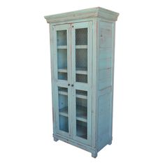 Vintage Mill Werks, Our Sonoma Display Cabinet is an extremely versatile piece of furniture, be it as a bookcase/display cabinet, a wardrobe in in your kitchen as a China Cupboard. Handmade from solid Old Growth Pine and shown in our weathered Turquoise finish. Many finish options available.