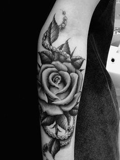 rose bicep tattoos for women - Google Search
