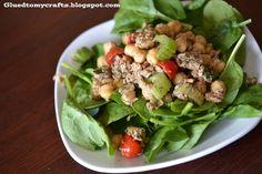 Mediterranean Tuna Salad {Recipe} - Glued To My Crafts