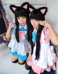 <3 Maid Cosplay, Asian Cosplay, Cosplay Girls, Kawaii Fashion, Cute Fashion, Asian Fashion, Girl Fashion, Harajuku Japan, Harajuku Girls