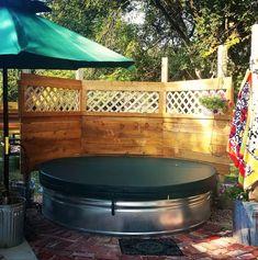 31 Clever Stock Tank Pool Designs and Ideas. stock tank pool with cover. Stock Pools, Stock Tank Pool, Diy Swimming Pool, Diy Pool, Pool Fun, Pool Outfits, Piscina Diy, Pool Landscaping, Backyard Pools