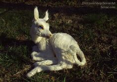 Lifesize Baby Unicorn one of a kind faux taxidermy by Sovaeart