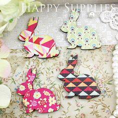 8Pcs Mini Handmade Vintage Rabbit Charms / Pendants (CWL03)