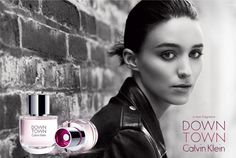 Rooney Mara como imagen de DOWNTOWN el nuevo perfume de Calvin Klein