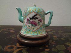 Miniature Nyonya Straits Chinese / Japanese porcelain famille rose teapot