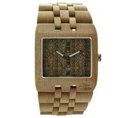 Wood Fellas Sanur Ethno Wheat Holzuhr, Armbanduhr Holz